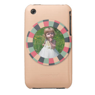 Fun Circle frame - vintage candy - light iPhone 3 Case-Mate Case