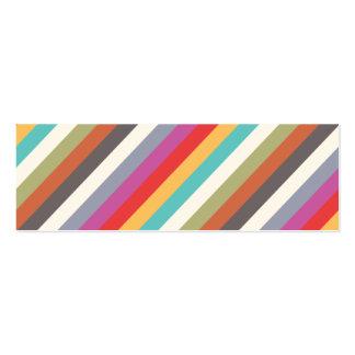 Fun Colorful Multi Stripes  Mini Business Card