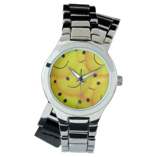 Fun Cool Happy Yellow Smiley Faces Watch