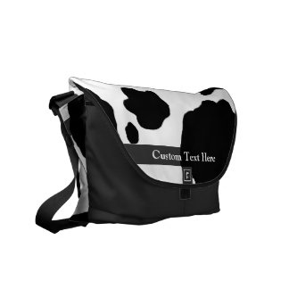 Fun Cow Print Personalized Commuter Bag