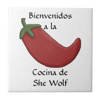 Fun Personalized Name Spanish Kitchen Welcome Small Square Tile