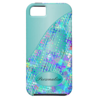 Fun Psychedelic Blues with a Splatter of Blue Dots iPhone 5 Case