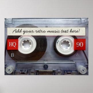 Fun Retro Cassette Tape Poster