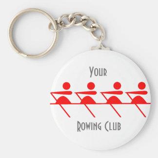 Fun Rowing club Basic Round Button Key Ring