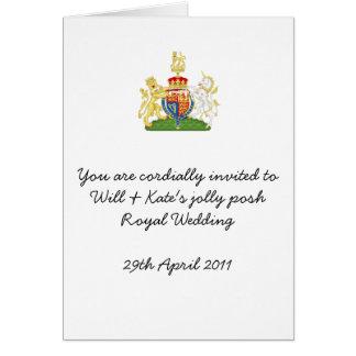 Fun Royal Wedding party invites Greeting Card