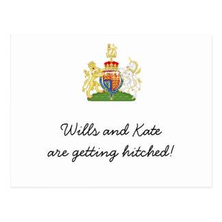 Fun Royal Wedding party invites Postcard