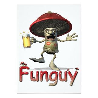 Funguy Mushroom Invitation