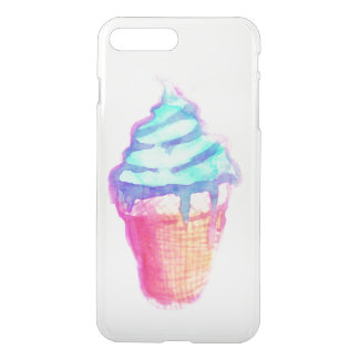 Funky Cool Drippy Ice Cream Cone in Watercolors iPhone 7 Plus Case