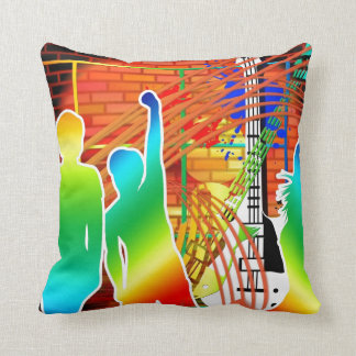Funky Cool Music Dance Pop Art Design Cushion