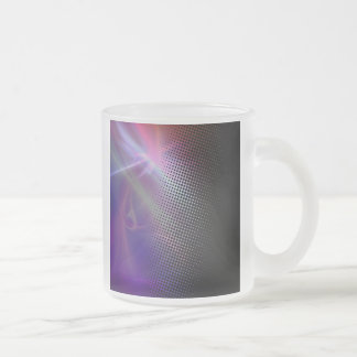 funky girly halftone textured frosted glass mug