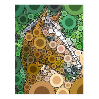 Funky Horse Circles Bubbles Modern Art Postcard