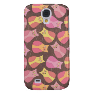 Funky Owl Pattern Animal Designer iphone Protector Samsung Galaxy S4 Case