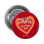 Funny and Romantic 50th Anniversary 6 Cm Round Badge