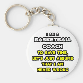 Funny Basketball Coach T-Shirts and Gifts Basic Round Button Key Ring