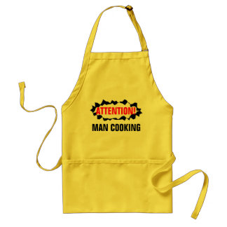 Funny BBQ apron for men   Attention man cooking!