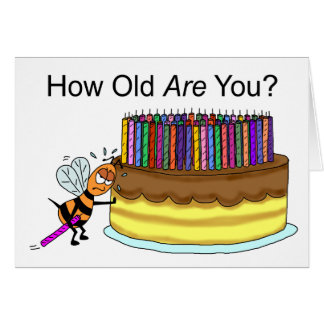 Funny Birthday Card:  Birthday Candle Beeswax Greeting Card