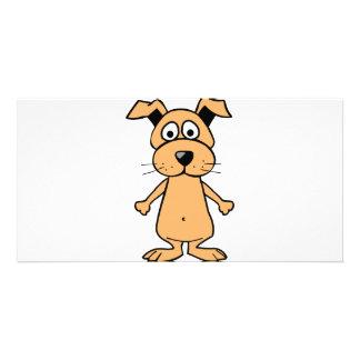 Funny cartoon dog custom photo card