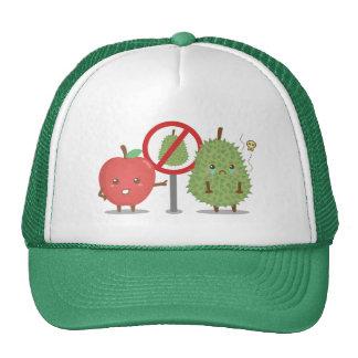 Funny Cartoon, Forbidden Fruit, Apple and Durian Cap