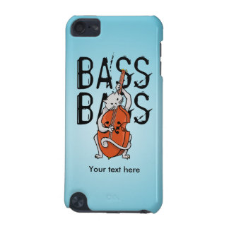 Funny Cat Playing a Double Bass or Cello iPod Touch 5G Cover