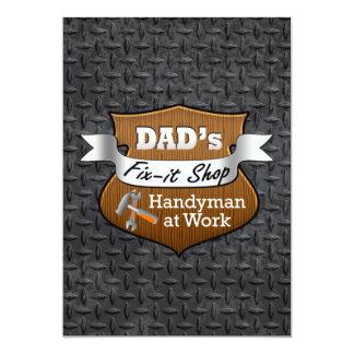 Funny Dad's Fix-it Shop Handy Man Father's Day 13 Cm X 18 Cm Invitation Card