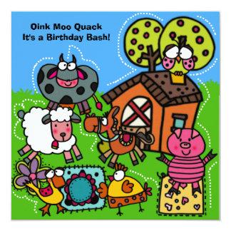 Funny Farm Birthday Invitation