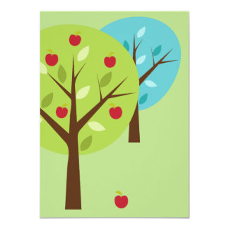 Funny Father's Day - The Apple Doesn't Fall Far 11 Cm X 16 Cm Invitation Card