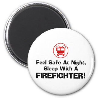 Funny Firefighter 6 Cm Round Magnet