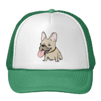 Funny French Bulldog with Huge Tongue Sticking Out Cap