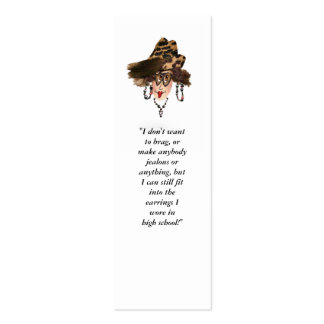 Funny Girly Bookmark Pack Of Skinny Business Cards