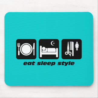 Funny hair stylist mouse pad