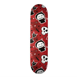 Funny Halloween Characters Pattern 18.1 Cm Old School Skateboard Deck