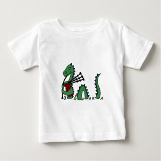 Funny Loch Ness Monster Playing Bagpipes Tees