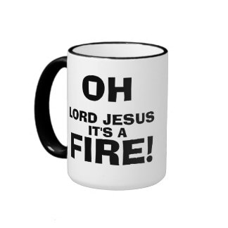 Funny Meme Quotes It's a FIRE! Ringer Mug