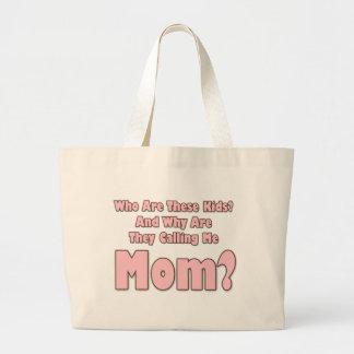Funny Mom Jumbo Tote Bag