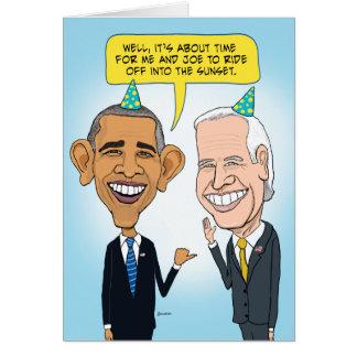 Funny Obama and Biden Farewell Birthday Card