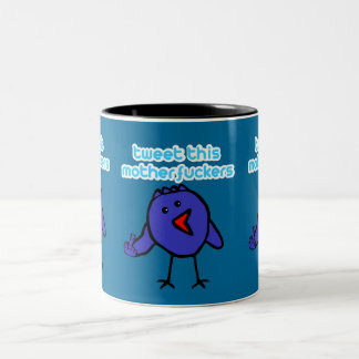 Funny,offensive twitter Two-Tone mug