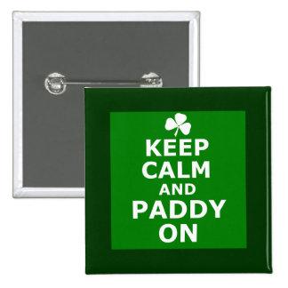 Funny paddy 15 cm square badge