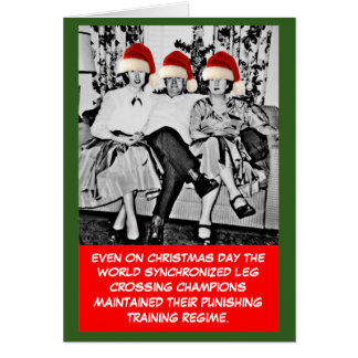 Funny photo Christmas Greeting Card
