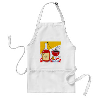 Funny Port Wine Lovers Kitchen Apron