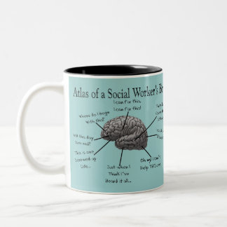 Funny Social Worker Gifts Two-Tone Mug