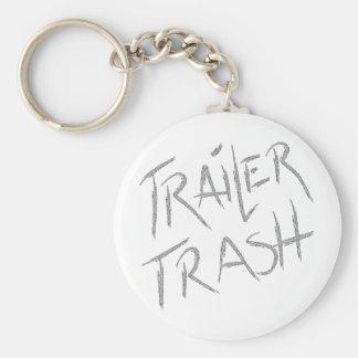 Funny Trailer Park Shirt Basic Round Button Key Ring