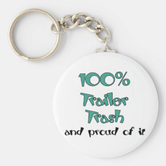 Funny Trailer Park Shirts and Gifts Basic Round Button Key Ring