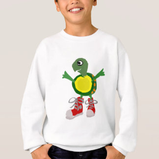 Funny Turtle in Red High Tops Shoes Tees