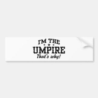 Funny Umpire Bumper Sticker