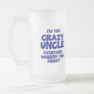 Funny Uncle Gift Frosted Glass Mug