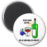 Funny wine humour saying 6 cm round magnet