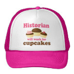 Funny Work For Cupcakes Historian Cap