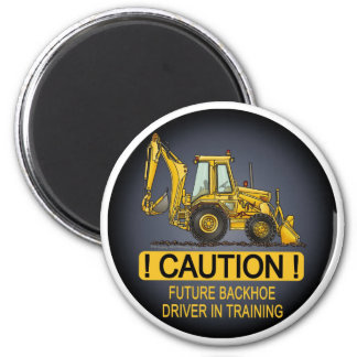 Future Backhoe Driver Magnet