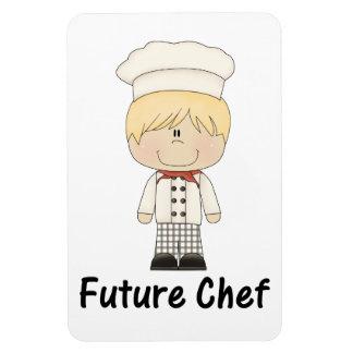 future chef (boy) rectangular photo magnet