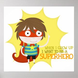 Future superhero (large poster) poster